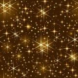 Cielo estrellado inconsútil, chispa de la Navidad ilustración del vector