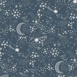 Cielo estrellado pattern-02 inconsútil fotografía de archivo
