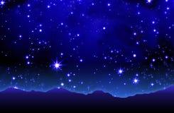 Cielo estrellado veraniego Fotografía de archivo