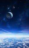 Cielo extranjero del planeta Foto de archivo libre de regalías