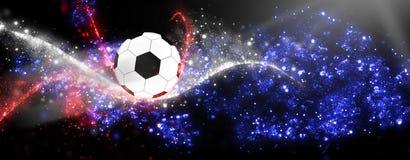 Cielo Francia del fútbol Imágenes de archivo libres de regalías