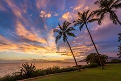 Cielo hawaiano mágico foto de archivo libre de regalías