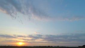 Cielo HD de la puesta del sol almacen de video