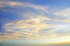 Cielo hermoso Foto de archivo libre de regalías