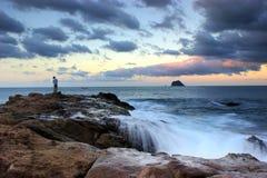 Cielo hermoso con el mar silk-like Imágenes de archivo libres de regalías