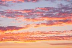 Cielo hermoso con las nubes Fotografía de archivo libre de regalías