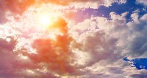 Cielo hermoso de la mañana Fotografía de archivo