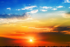 Cielo hermoso de la mañana Foto de archivo
