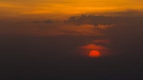 Cielo hermoso de la opinión de la puesta del sol Foto de archivo libre de regalías