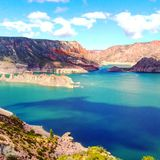 Cielo hermoso de la Patagonia de la Argentina del lugar imagen de archivo