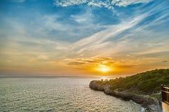 Cielo hermoso de la puesta del sol Imagen de archivo libre de regalías