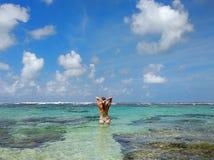 Cielo hermoso del mar foto de archivo libre de regalías