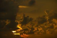 cielo hermoso del sol Fotos de archivo libres de regalías