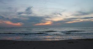 Cielo hermoso durante puesta del sol Fotos de archivo libres de regalías