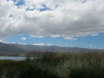 Cielo hermoso en Perú Imagen de archivo