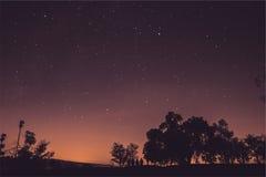 Cielo hermoso por completo del espacio de las estrellas Fotografía de archivo libre de regalías