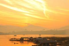 Cielo hermoso por la mañana Imagenes de archivo