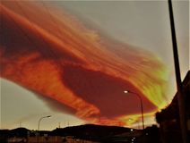 Cielo impressionante della meteora Immagini Stock