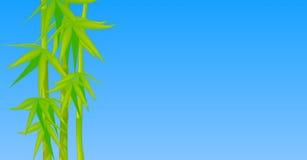 Cielo inmóvil de bambú horizontal stock de ilustración