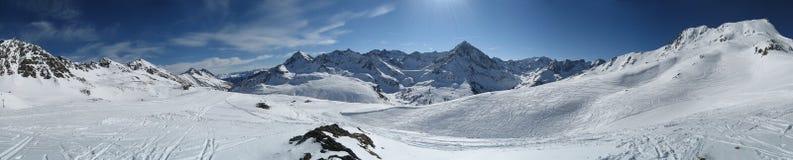 Cielo in inverno Tirol/Tirolo Immagini Stock