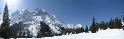 Cielo in inverno Tirol/Tirolo Fotografie Stock Libere da Diritti
