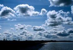 Cielo irlandés nublado Fotografía de archivo libre de regalías