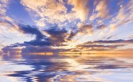 Cielo jugoso de la puesta del sol Imágenes de archivo libres de regalías