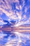 Cielo jugoso de la puesta del sol Foto de archivo libre de regalías