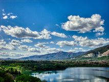 Cielo-lago-brianza Arkivbild