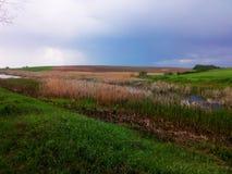 Cielo lluvioso Foto de archivo libre de regalías