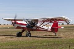 Cielo Lobo VH-XWV single engine kit built aircraft is a modified Skyfox light aircraft. Lethbridge, Australia - November 23, 2014: Cielo Lobo VH-XWV single royalty free stock photo