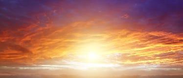 Cielo luminoso Fotografia Stock