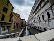Cielo lunatico di Venezia a maggio Fotografia Stock Libera da Diritti