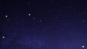 Cielo magnífico con las estrellas a brillar almacen de metraje de vídeo