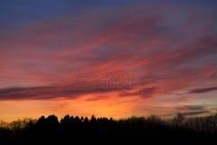 Cielo magnífico de la tarde Fotografía de archivo