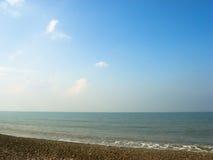Cielo, mar y arena Imágenes de archivo libres de regalías
