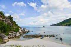 Cielo, mare e spiaggia Immagini Stock Libere da Diritti