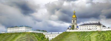 Cielo minaccioso di panorama di Cremlino di Tobol'sk Fotografie Stock Libere da Diritti