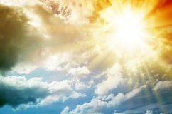 Cielo multicolore fantastico Fotografia Stock Libera da Diritti
