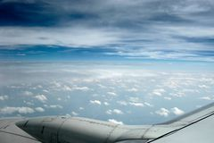 Cielo nebbioso blu Fotografia Stock