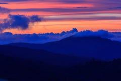 Cielo nel tempo di tramonto Immagini Stock