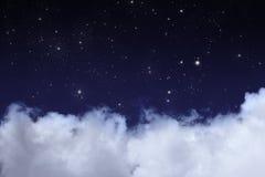 Cielo nocturno Foto de archivo libre de regalías