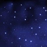 Cielo nocturno abstracto con las estrellas Fotografía de archivo libre de regalías
