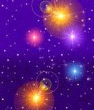Cielo nocturno chispeante ilustración del vector