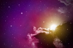 Cielo nocturno colorido Imágenes de archivo libres de regalías