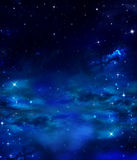 Cielo nocturno con las estrellas Imágenes de archivo libres de regalías