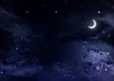Cielo nocturno con las estrellas Fotografía de archivo