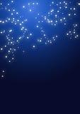 Cielo nocturno con las estrellas Fotos de archivo libres de regalías