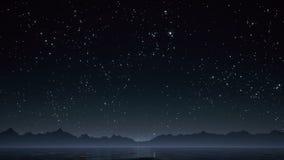 Cielo nocturno con las estrellas brillantes almacen de metraje de vídeo