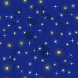 Cielo nocturno con las estrellas brillantes Imagen de archivo